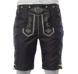 Lederhose Karl Short Black - XL/54