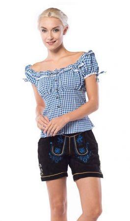 Lederhose Hannelore Short Brown Ladies - XL/42