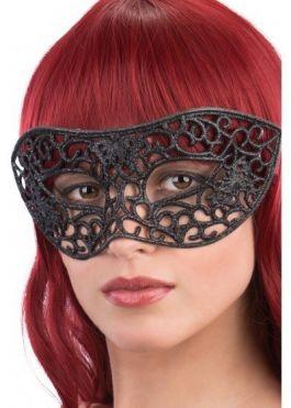 Black mask w/glitter