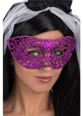 Purple mask w/glitter