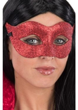 Red glittered mask