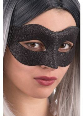 Black glittered mask