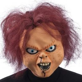 Horror Doll latex mask with header