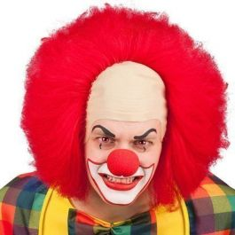 Wig clown horror with shell