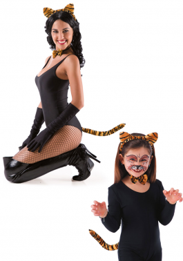 Tiger set (headband with ears tail and bow)