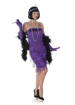 Purple Flapper Dress - L