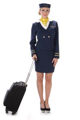 Blue Flight Attendant - L