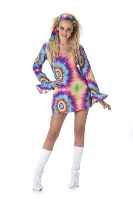Neon Tye Dye Dress - L