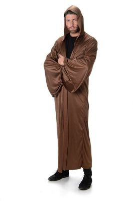 Brown Hooded Robe - One-Size