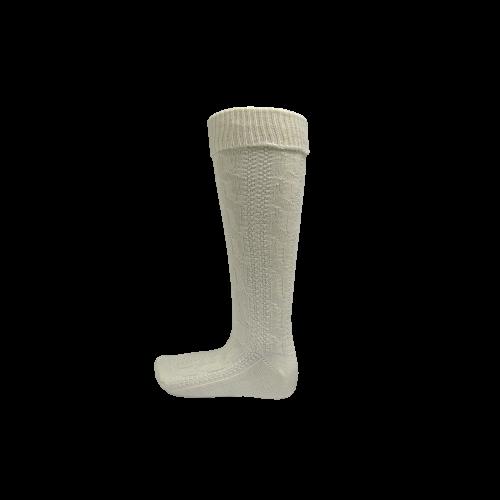 Trachtenstrumpfe / Knee socks High White