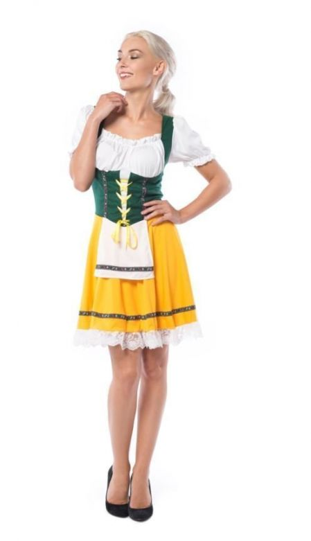 Dirndl Yellow Beer Girl