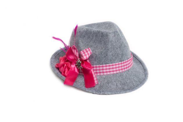 Oktoberfest Hat Theresia Grey Deluxe