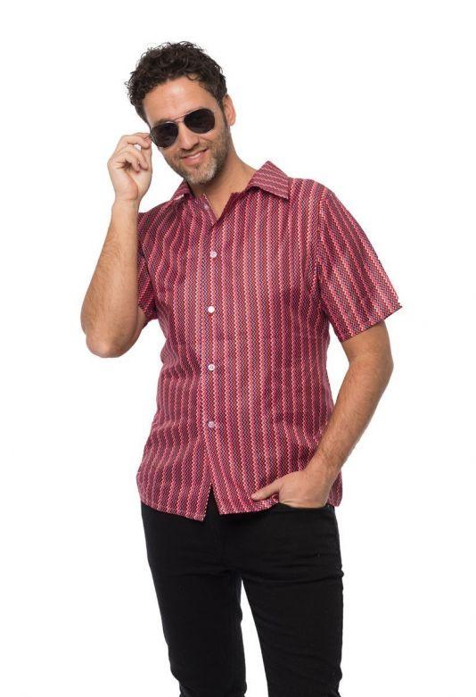 Retro 70's shirt Red