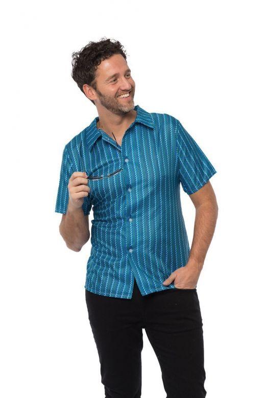 Retro 70's shirt Blue