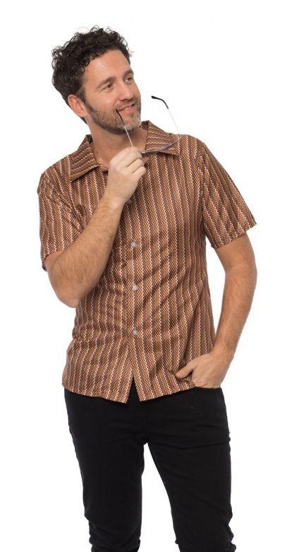 Retro 70's shirt Brown