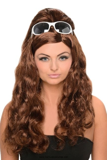 Brown Curly Penny Wig