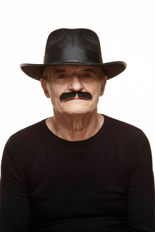 Mustache Dean Black