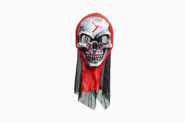 Bloody Skull Mask with Hood Pvc