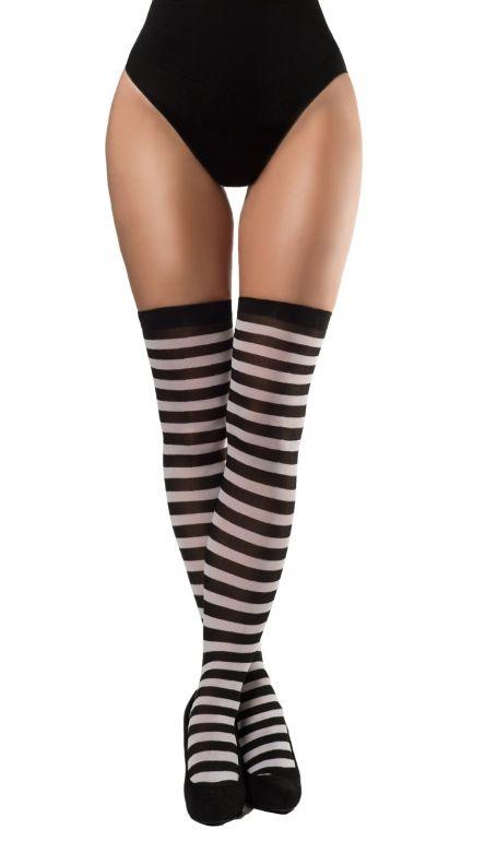 Stockings Black/White