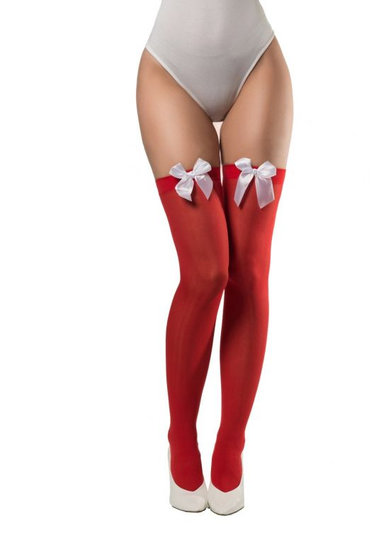 Stockings with Bow Red/White bow