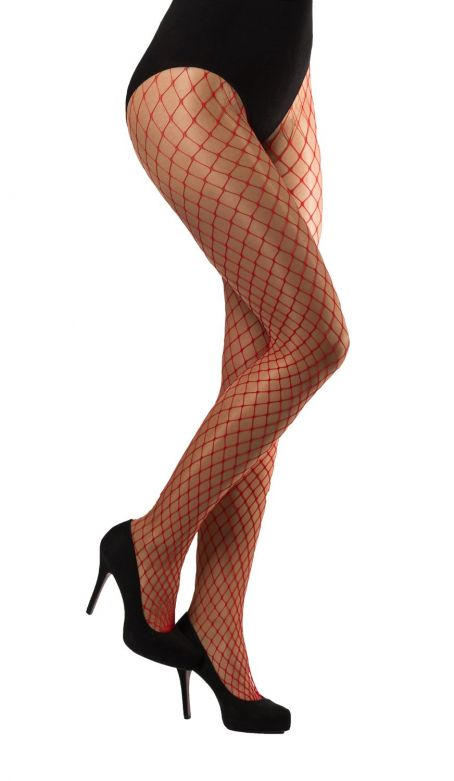 Tights large Meshes Red
