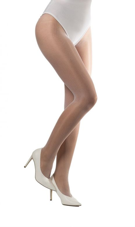 Tights Fishnet Fine  White