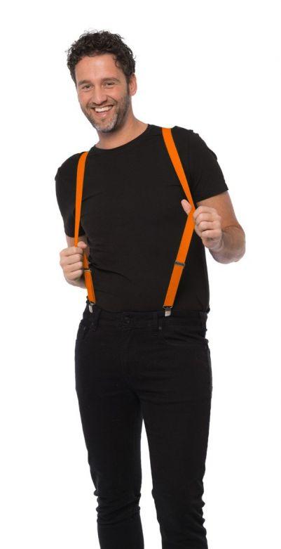 Suspenders Orange - Width 2,5 cm