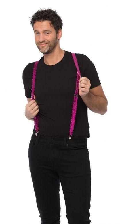 Suspenders Sequens Fuchsia - Width 2,5 cm