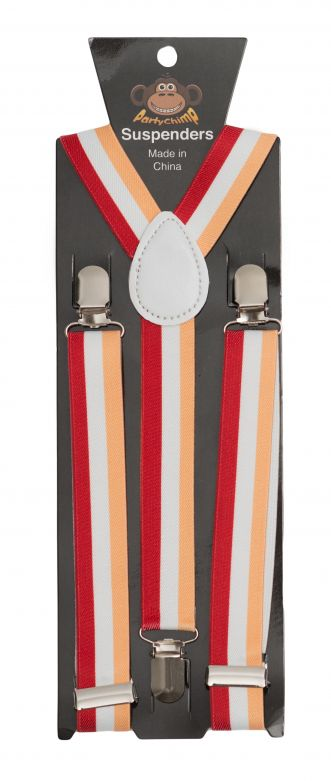 Suspenders Red/White/Yellow - Width 2,5 cm