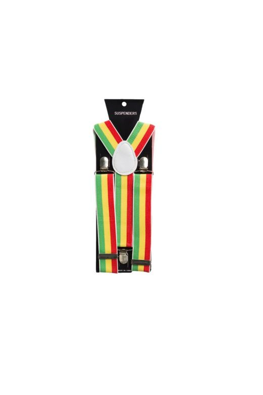 Suspenders Red/Yellow/Green - Width 2,5 cm