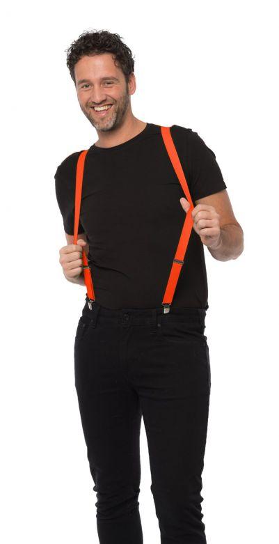 Suspenders Neon Orange - Width 2,5 cm