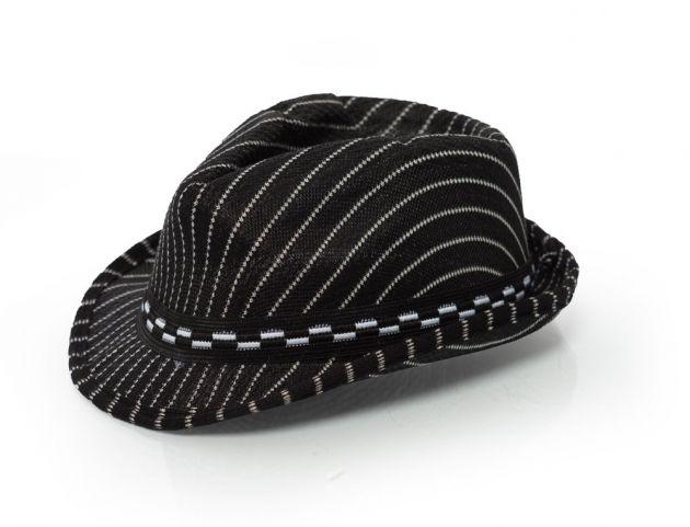 Gangster hoed Zwart gestreept