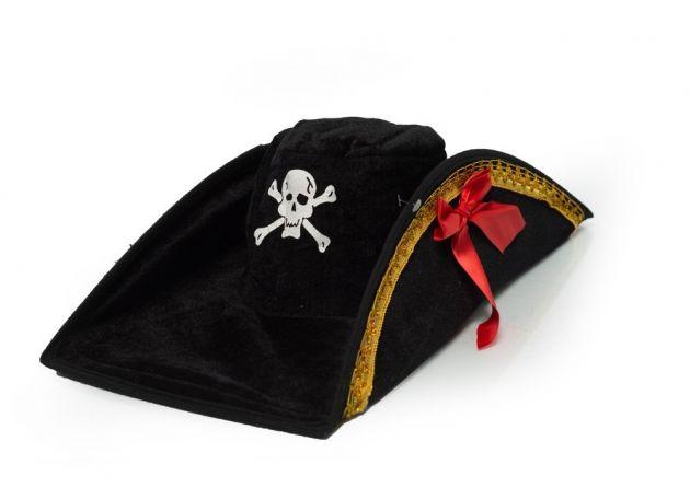 Pirate Hat Velours Skull