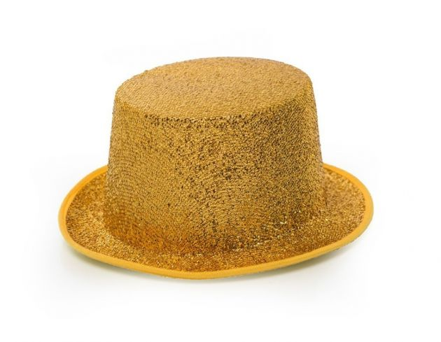 Top Hat Glitter Gold