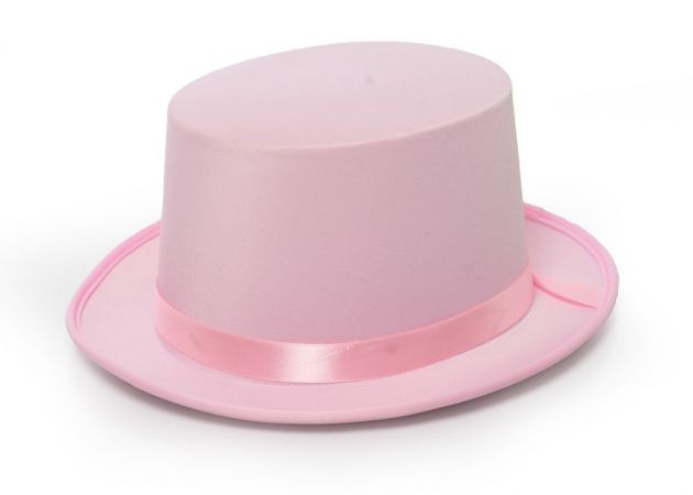 Top Hat Satin Pink