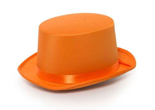 Top Hat Satin Orange
