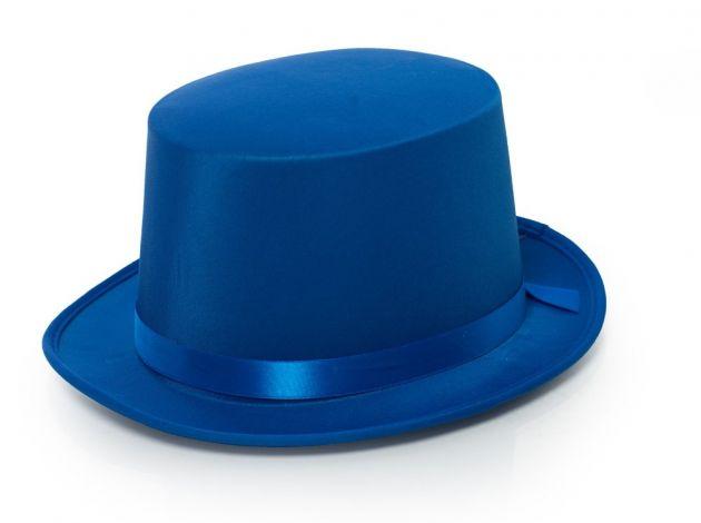 Top Hat Satin Blue