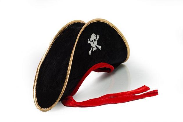 Pirate Hat Black/Red