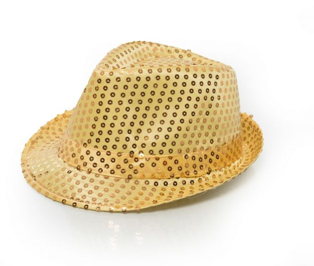 Spangles Hat Gold with light