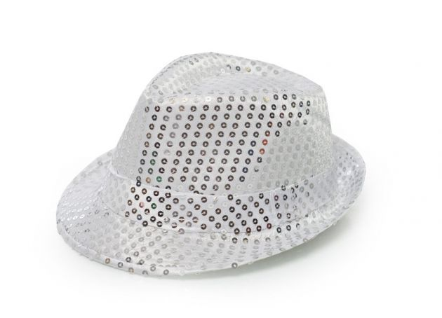 Spangles Hat Silver with light