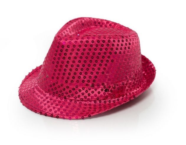 Spangles Hat Hot Pink with light