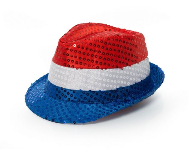 Spangles Hat Red/White/Blue