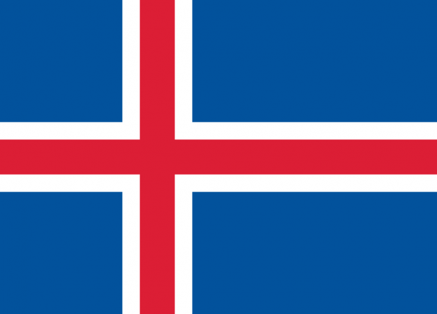 Country Flag Iceland 90 x 150 cm