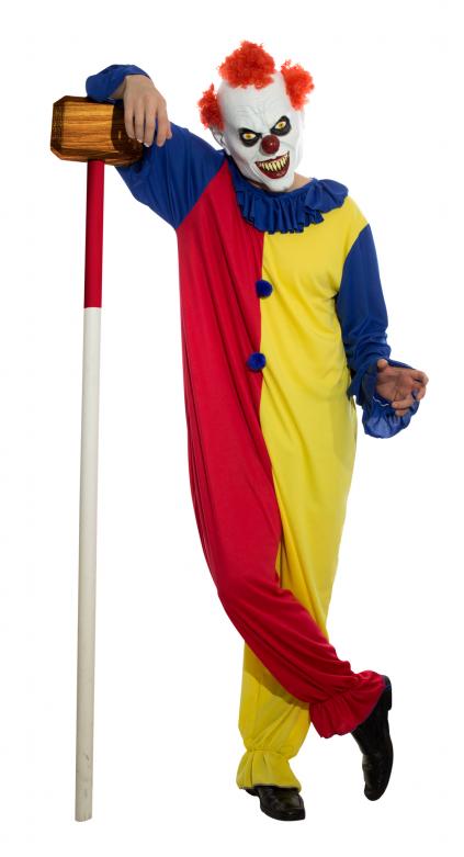 Headmask + Costume - Killer Clown - L