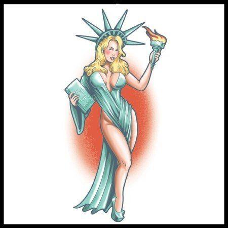 Lady Liberty Tattoo