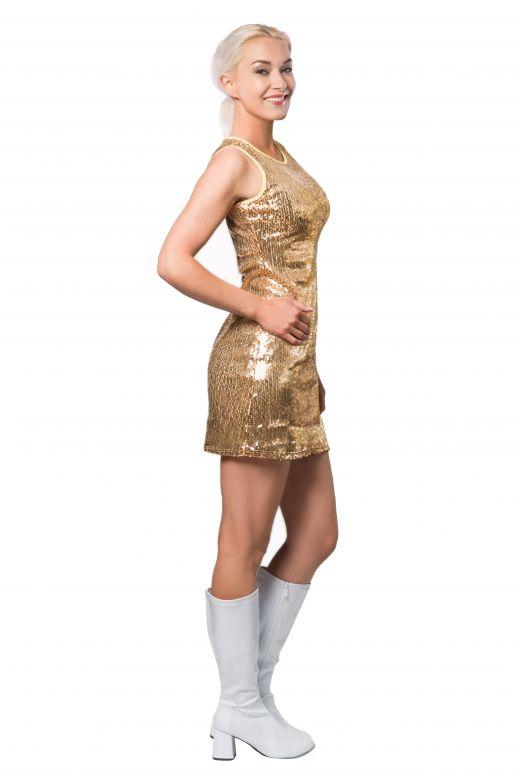 Party Dress Sequins Gold