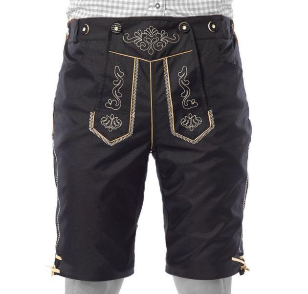 Lederhose Karl (short), black, incl suspenders