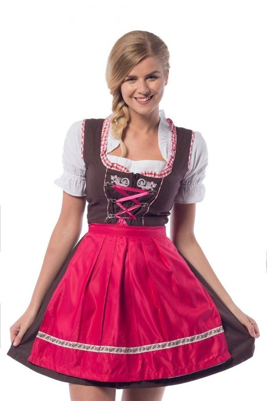 Oktoberfest Dress  Laura Brown/Pink