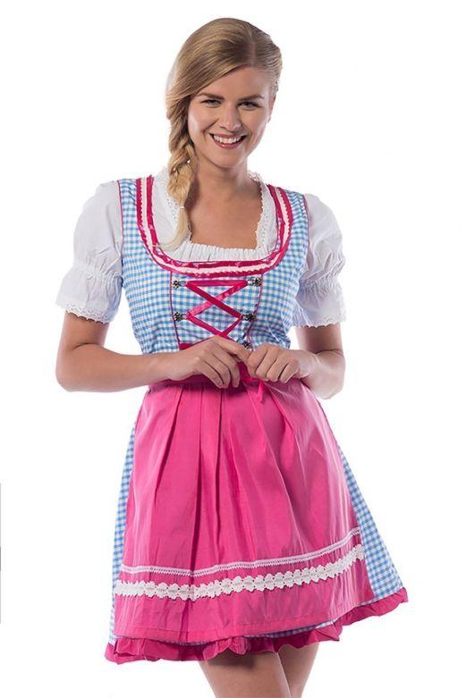 Oktoberfest Dress  Jill Blue/Pink