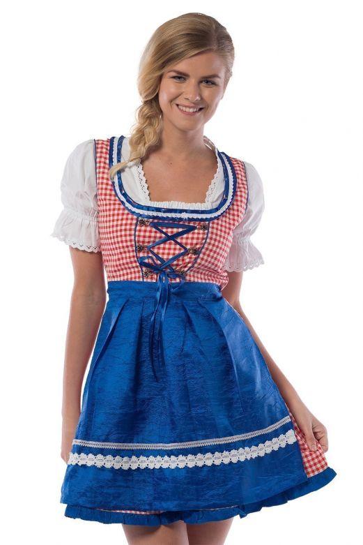 Oktoberfest Dress  Jill Red /Blue